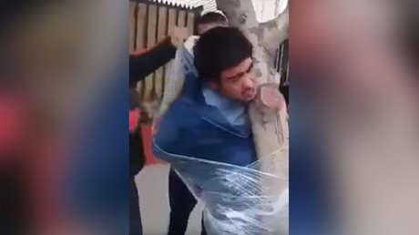 El severo castigo de los vecinos a un ladrón en Chile (VIDEO)