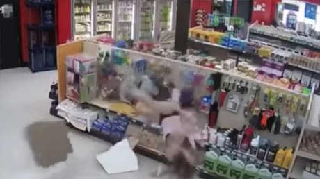 ladrones torpes caen techo intento épicamente estúpido fuga