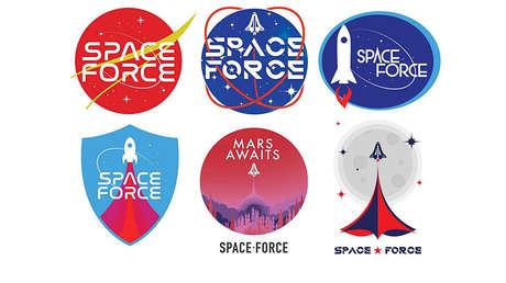 Los partidarios de Trump votarán para elegir el logo de la nueva Fuerza Espacial