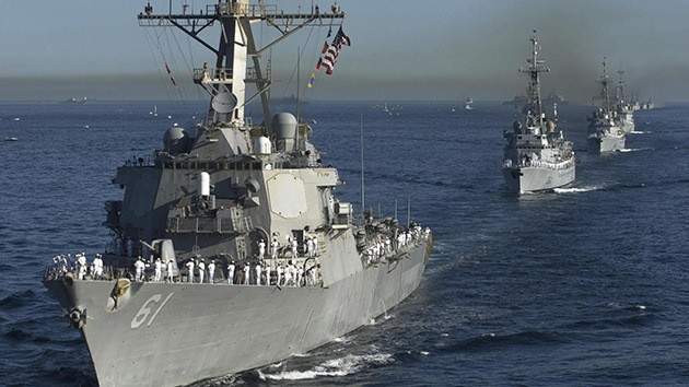 Fotos: Los buques de la Armada de EE.UU., en espera y listos para atacar Siria