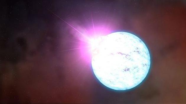 Hallan la primera estrella de neutrones capaz de 'pisar el freno'