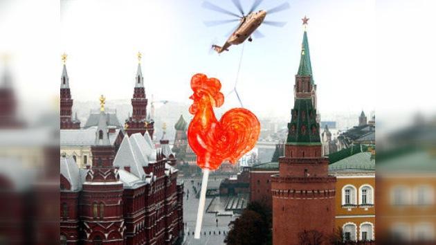 En Moscú harán la paleta de caramelo en forma de gallo más grande del mundo
