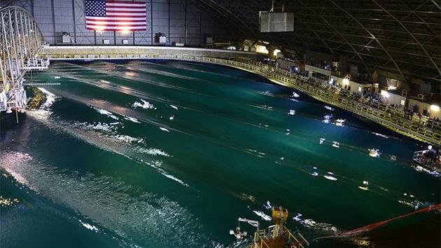 Así funciona el océano artificial de la Marina de EE.UU. para probar buques