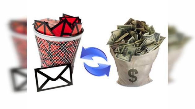 Un norteamericano, que convierte spam en dinero