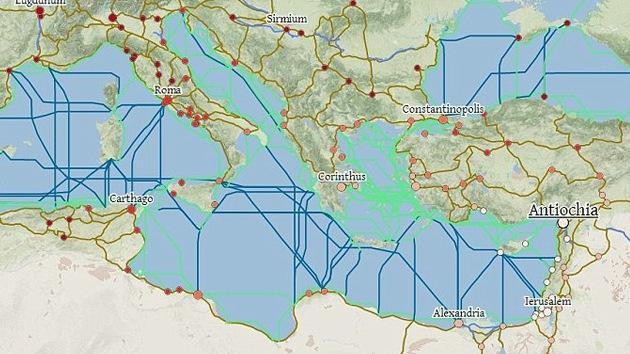 'Google César': Crean un mapa de 'viajes' por el Imperio Romano