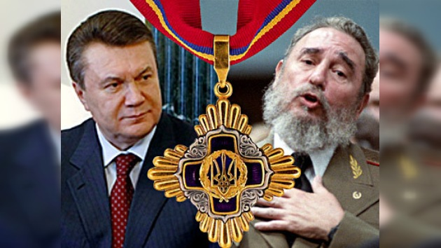 Yanukóvich agradece a Fidel Castro la ayuda cubana