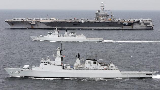 Un portaaviones estadounidense se adentra en las aguas del Mar de China Meridional