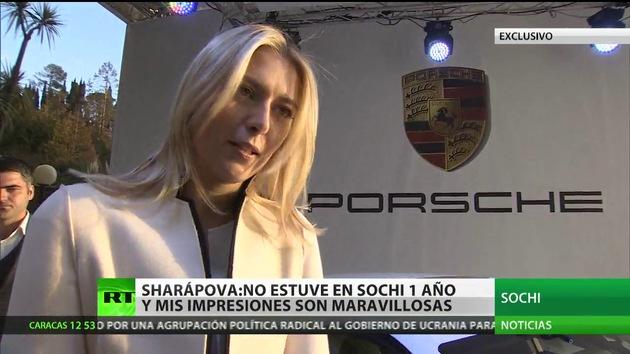 """María Sharápova en exclusiva a RT: """"Mis impresiones sobre Sochi son maravillosas"""""""