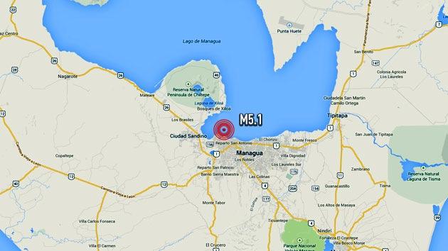 Un sismo de magnitud 5,1 sacude Nicaragua