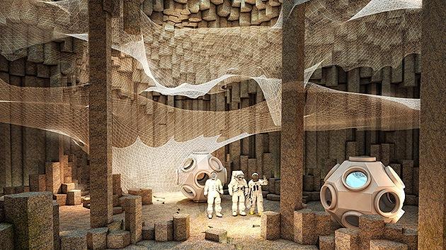 Cuevas fantásticas: casas para los primeros colonizadores de Marte