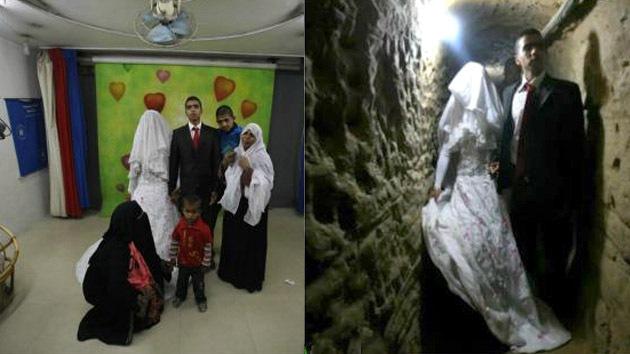 Un 'túnel del amor' une a una egipcia y a un palestino para casarse en Gaza