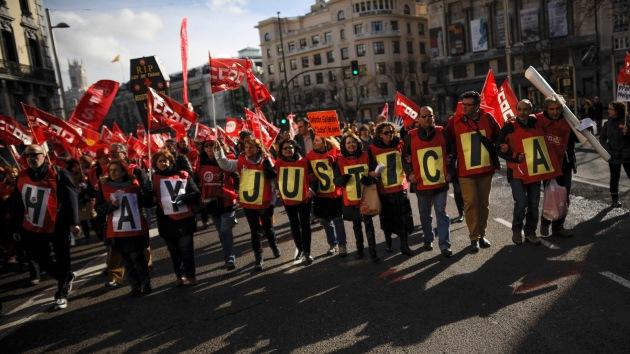 Fotos: Los sindicatos de Justicia protestan en Madrid contra las reformas judiciales