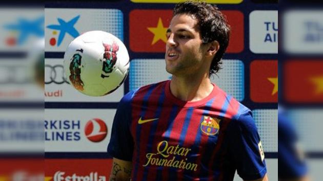 Cesc Fàbregas es presentado oficialmente como jugador del Barcelona