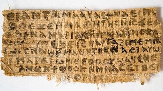 Descubren referencias a la esposa de Jesucristo en un papiro del siglo IV