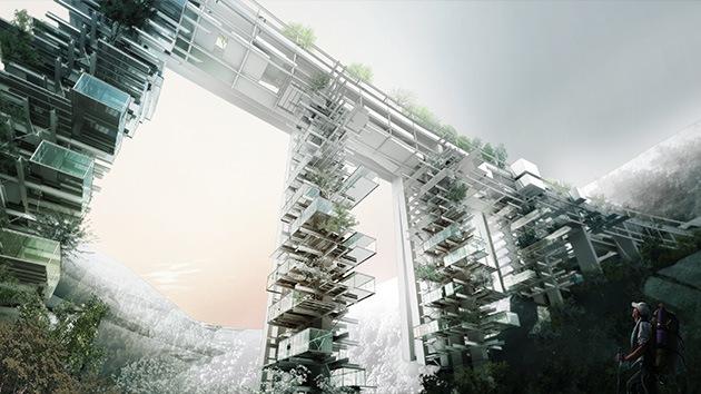 Imágenes: Arquitectos italianos proponen vivir debajo de un puente... ¿en rascacielos?