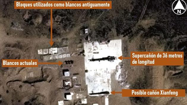 Imágenes de satélite revelan misteriosos 'supercañones' chinos