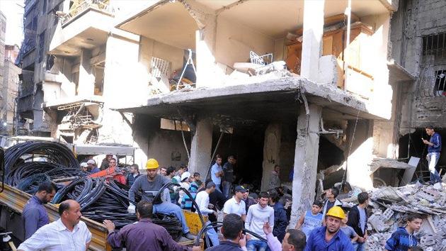 Varios muertos en un ataque rebelde contra un barrio acomodado de Damasco