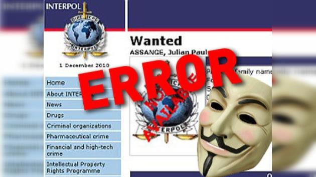 Anonymous inutiliza la página oficial de Interpol