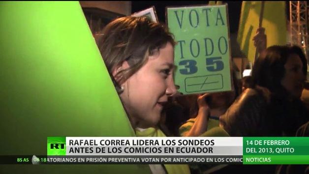 ¿Ganará Rafael Correa en la primera vuelta?