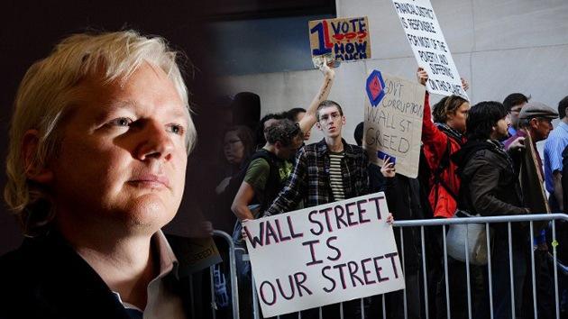 """Ocupa a Assange: """"Un estallido democrático en EE. UU. es el mayor temor del Gobierno"""""""