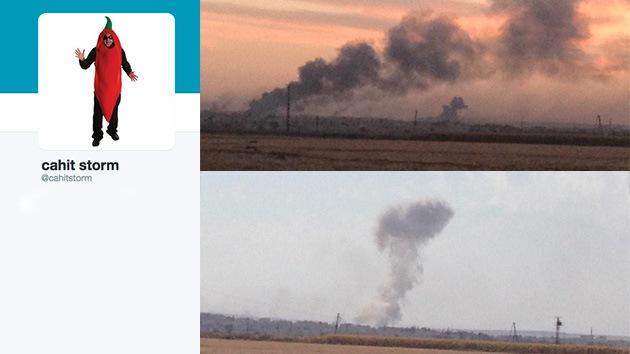 Un kurdo tuitea en pleno ataque de los yihadistas del Estado Islámico contra Kobani