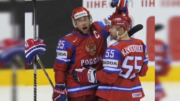 Rusia vence a Eslovaquia y se clasifica para la segunda ronda del Mundial de Hockey