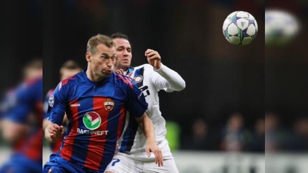 Liga de Campeones: CSKA cae ante un sólido Inter de Ranieri