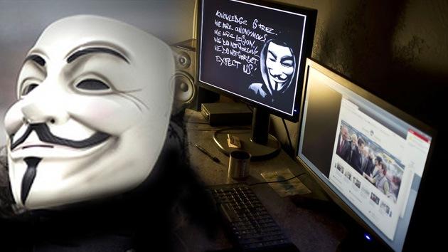 Respuesta dura: Anonymous lanza una ciberguerra contra el Gobierno sirio
