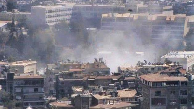 Siria: Una fuerte explosión sacude el centro de Damasco junto a una sede militar