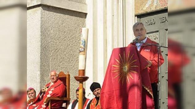 Piñera asistió a una misa en memoria de las víctimas del sismo