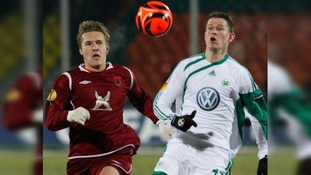 Rubín deja escapar el triunfo ante el Wolfsburgo en la Liga Europa
