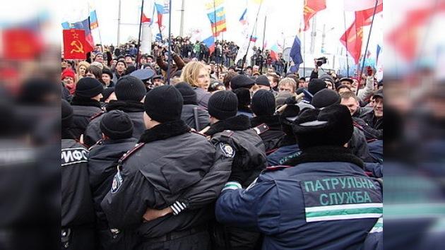 Congreso de nacionalistas ucranianos provocó disturbios en Sebastopol