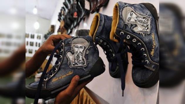 China produce zapatos deportivos con la imagen de Bin Laden