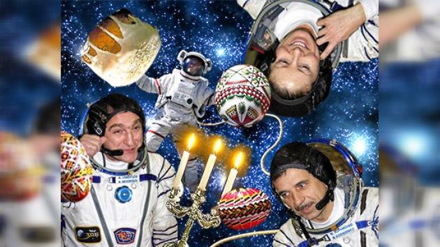 Los tripulantes de la EEI celebrarán en órbita la Pascua y sus cumpleaños