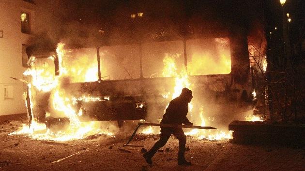 'Cruzada' en Kiev: Violentos choques entre policías y manifestantes