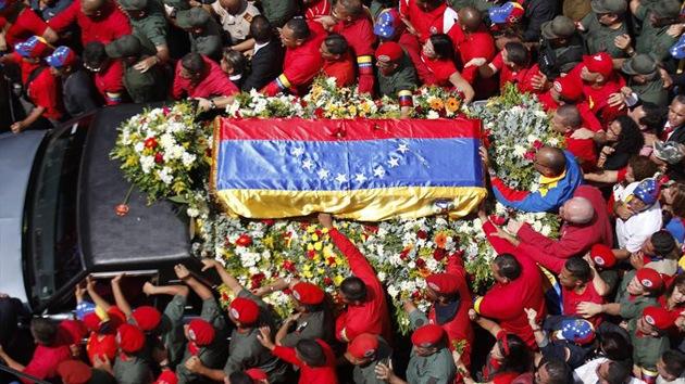 Los venezolanos se despiden de Hugo Chávez