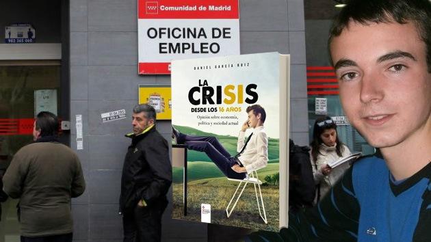"""Un adolescente español publica un libro sobre la crisis: """"Sobran políticos y asesores"""""""
