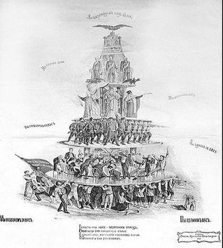 La caricatura política en San Petersburgo