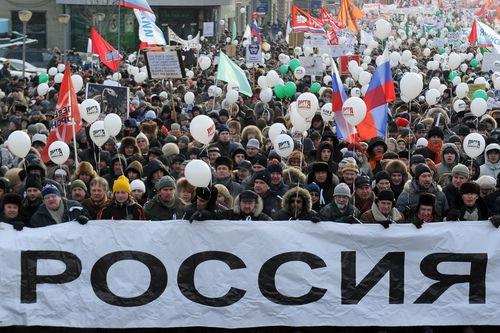 Día de manifestaciones: Rusia sale a las calles