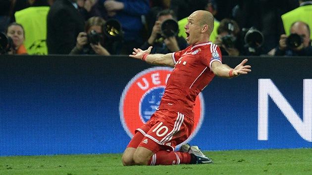 Robben da al Bayern de Múnich su quinta Champions con un gol en el último suspiro