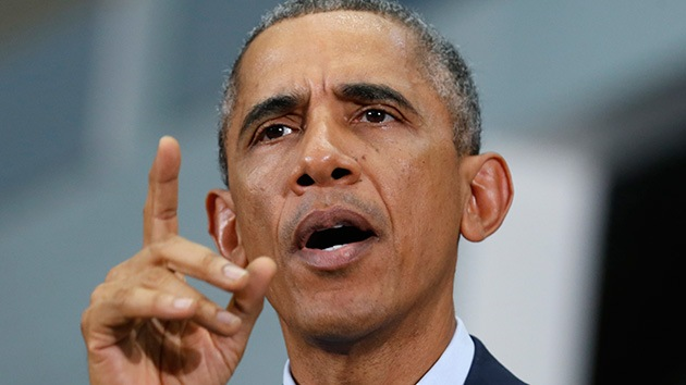 Una multitud abandona un mitin de los demócratas de EE.UU. sin querer escuchar a Obama