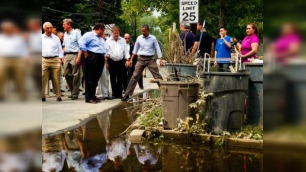 Obama visita las zonas afectadas por el huracán Irene