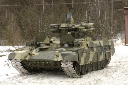 'Terminator', el innovador carro ruso de soporte para tanque