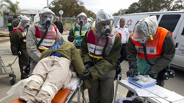 Israel se prepara para afrontar ataques químicos