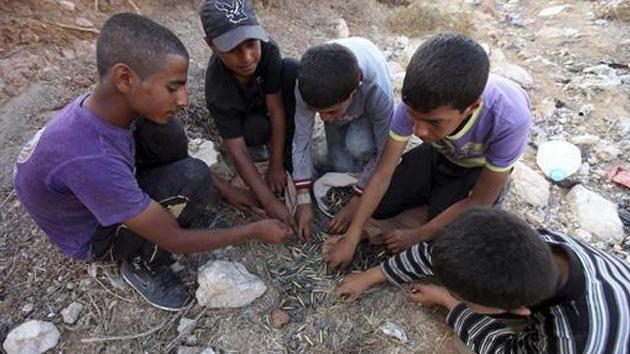 Niños palestinos piden a la ONU que Israel les devuelva una pelota