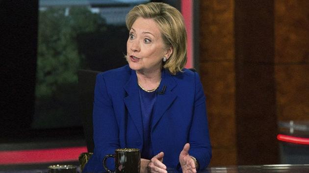 """Hillary Clinton: """"Financiamos mal a rebeldes sirios y surgió Estado Islámico"""""""