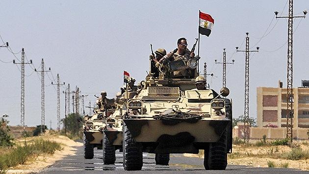 Egipto despliega tanques en la frontera con Gaza