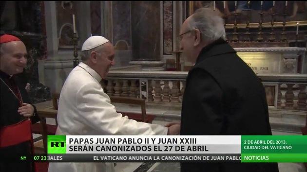 Juan Pablo II y Juan XXIII serán canonizados el 27 de abril