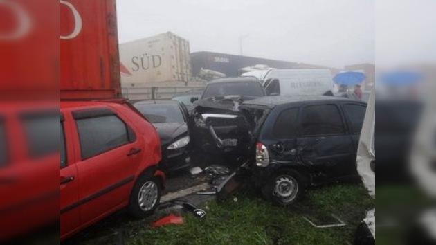 Una impresionante colisión en Brasil con más de 200 vehículos