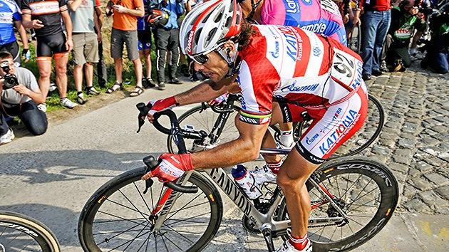 Oscar Freire, del equipo ruso 'Katiúsha', abandona el Tour por fractura de costilla
